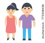 a brother and sister of same... | Shutterstock .eps vector #775348438