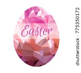 easter eggs decoration with... | Shutterstock .eps vector #775350172