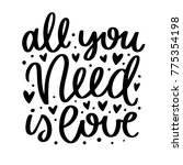 vector poster with phrase and... | Shutterstock .eps vector #775354198