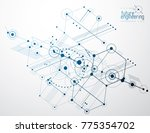 engineering technology vector... | Shutterstock .eps vector #775354702