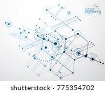 engineering technology vector... | Shutterstock .eps vector #775354702