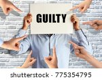 guilty businessman judged by...   Shutterstock . vector #775354795