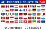 european flags set original | Shutterstock .eps vector #775360015