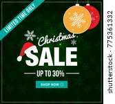 christmas sale limited time... | Shutterstock .eps vector #775361332