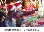 christmas market shopping ... | Shutterstock . vector #775361512