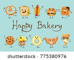 cartoon illustration of funny... | Shutterstock .eps vector #775380976