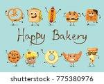cartoon illustration of funny... | Shutterstock .eps vector #775380976