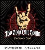 hard rock  heavy metal  sign of ... | Shutterstock .eps vector #775381786