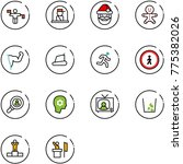 line vector icon set   traffic... | Shutterstock .eps vector #775382026