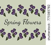 seamless horizontal floral... | Shutterstock .eps vector #775385782