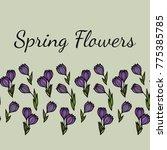 seamless horizontal floral... | Shutterstock .eps vector #775385785