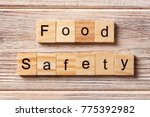 food safety word written on... | Shutterstock . vector #775392982