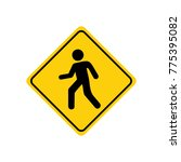 warning sign with pedestrian | Shutterstock .eps vector #775395082