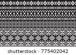 ethnic border seamless pattern   Shutterstock .eps vector #775402042