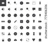 simple user interface vector... | Shutterstock .eps vector #775406206