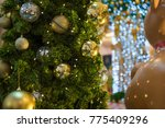 christmas tree with lights | Shutterstock . vector #775409296