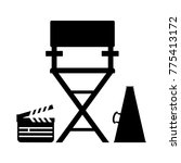cinema icon. film director... | Shutterstock .eps vector #775413172