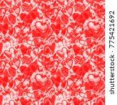 cute valentine's seamless... | Shutterstock .eps vector #775421692
