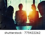 businessmen that work together... | Shutterstock . vector #775422262