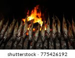 fish fry at the stake   Shutterstock . vector #775426192