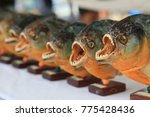 piranha fish  souvenirs   Shutterstock . vector #775428436