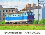 old train electric locomotive... | Shutterstock . vector #775429102