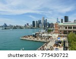cityscape of chicago and navy... | Shutterstock . vector #775430722