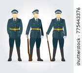 soldier and guard of honor... | Shutterstock .eps vector #775443376