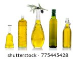 various olive oil glass jar ... | Shutterstock . vector #775445428