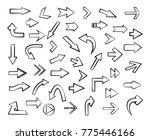 hand drawn arrows. doodle... | Shutterstock .eps vector #775446166