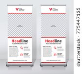 roll up sale banner design... | Shutterstock .eps vector #775447135