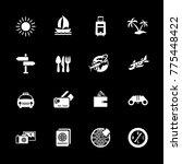 travel icons set | Shutterstock .eps vector #775448422