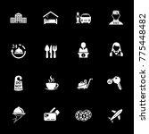 hotel icons set | Shutterstock .eps vector #775448482