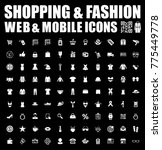 shopping and fashion icons | Shutterstock .eps vector #775449778