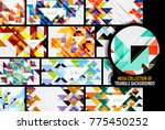 set of triangles repetition...   Shutterstock .eps vector #775450252