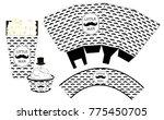 popcorn paper box. cupcake... | Shutterstock .eps vector #775450705