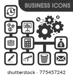 business icons set and symbols... | Shutterstock .eps vector #775457242