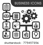business icons set and symbols... | Shutterstock .eps vector #775457356