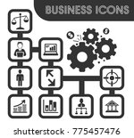 business icons set and symbols... | Shutterstock .eps vector #775457476