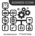 business icons set and symbols... | Shutterstock .eps vector #775457656
