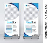 roll up sale banner design... | Shutterstock .eps vector #775459522