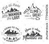 set of mountains related... | Shutterstock .eps vector #775460656