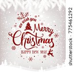 merry christmas and new year... | Shutterstock .eps vector #775461292