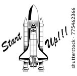 space ship start up | Shutterstock .eps vector #775462366