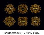 beautiful vintage badges modern ... | Shutterstock .eps vector #775471102