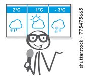 weather reporter presents the... | Shutterstock .eps vector #775475665
