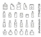 different types of bottles ... | Shutterstock .eps vector #775481728