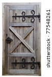 Old Wooden Door Isolated On...