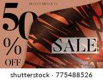sale advertisement banner on...   Shutterstock .eps vector #775488526