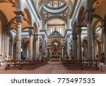 Small photo of Florence, Italy - April 08, 2017: Interior of the Basilica of the Holy Spirit (Santo Spirito), it is one of the preeminent examples of Renaissance architecture